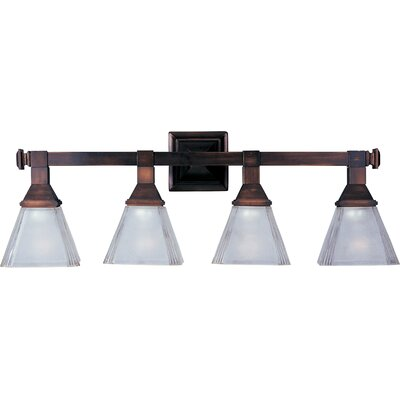 Fritsche 4-Light Vanity Light Finish: Oil rubbed bronze