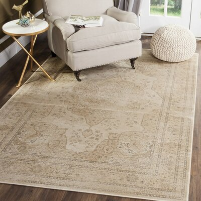 Frith Creme Area Rug Rug Size: Rectangle 53 x 76