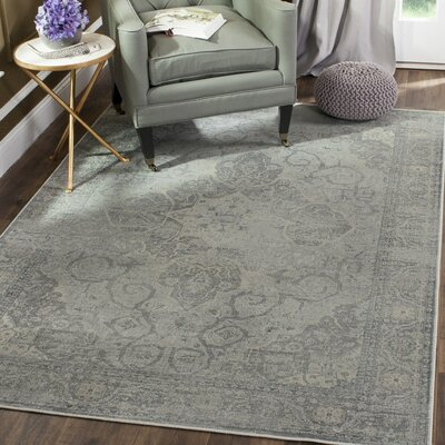Frith Silver Area Rug Rug Size: 6'7