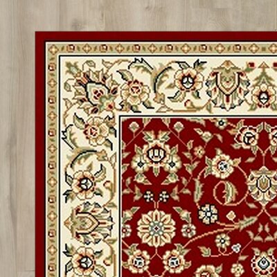 Silvera Red/Ivory Area Rug