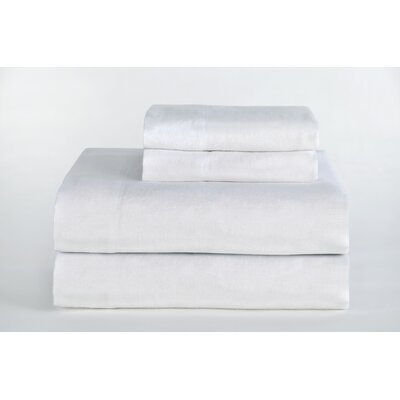 Medaryville Heavy Weight Flannel Solid Sheet Set Size: King, Color: White