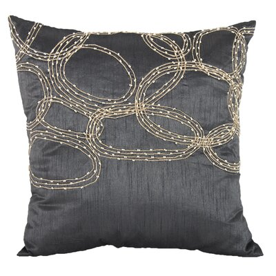 Bridgeville Beaded Throw Pillow (Set of 2) Color: Gray