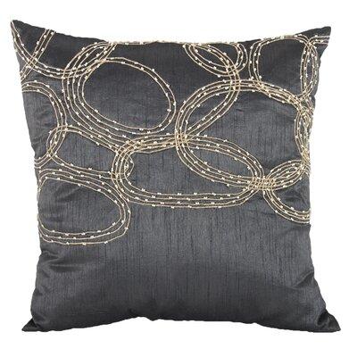 Bridgeville Beaded Throw Pillow (Set of 2) Color: Gray
