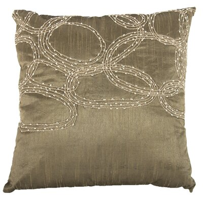 Bridgeville Beaded Throw Pillow (Set of 2) Color: Brown