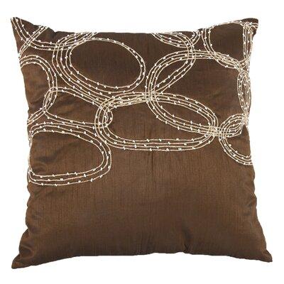 Bridgeville Beaded Throw Pillow (Set of 2) Color: Copper