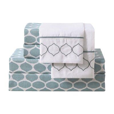 Geissler 6 Piece Microfiber Sheet Set Size: King, Color: Blue