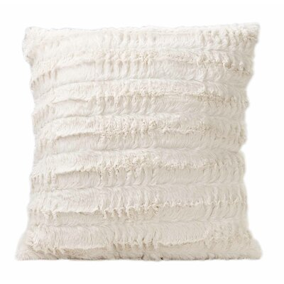 Carraton Faux Fur Throw Pillow Color: Cream