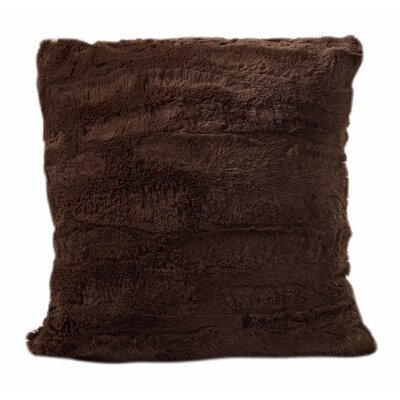 Carraton Faux Fur Throw Pillow Color: Caramel
