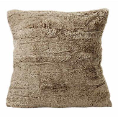 Carraton Faux Fur Throw Pillow Color: Tan