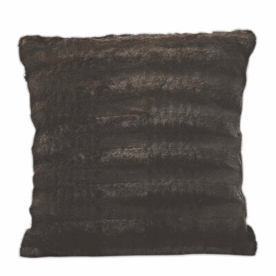Carraton Faux Fur Throw Pillow Color: Chocolate