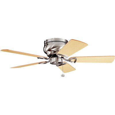 Cerro 42 5-Blade Ceiling Fan Finish: Brushed Stainless Steel with Light/Med Oak Blades
