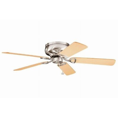 52 Cerro 5 Blade Ceiling Fan Finish: Brushed Stainless Steel with Light/Med Oak Blades