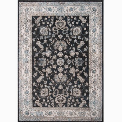 Gloria Brown/Ivory Area Rug Rug Size: 53 x 72