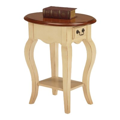 Apple Valley End Table Color: Ivory