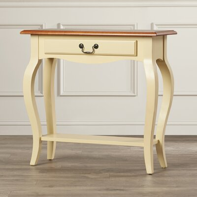 Apple Valley Console Table Finish: Ivory