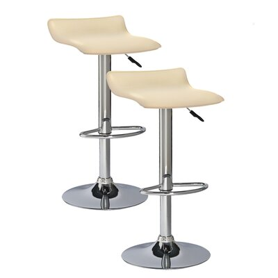 Apple Valley Adjustable Height Swivel Bar Stool Upholstery: Cream