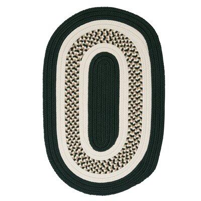 Germain Dark Green/Beige Area Rug Rug Size: Oval 7 x 9
