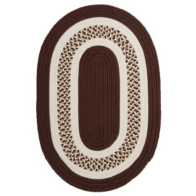 Germain Brown/Beige Area Rug Rug Size: Oval 2 x 3