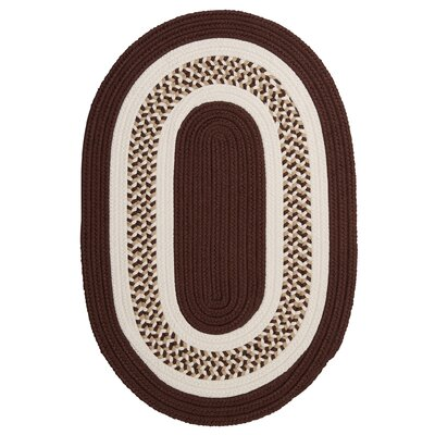 Germain Brown/Beige Area Rug Rug Size: Oval 4 x 6