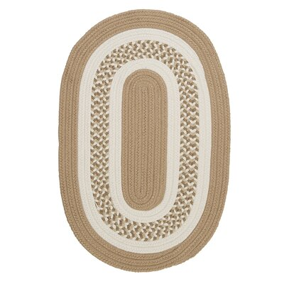 Germain Cuban Sand/Beige Area Rug Rug Size: Oval Runner 2' x 12'