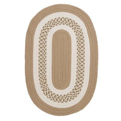 Germain Cuban Sand/Beige Area Rug Rug Size: Oval 2 x 4