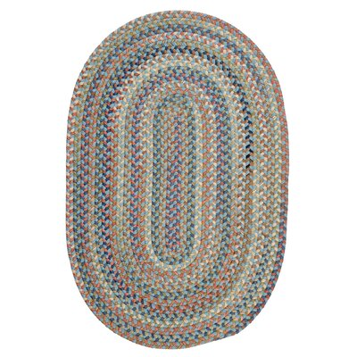 Kipton Light Blue Area Rug Rug Size: Oval 2 x 4
