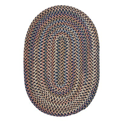 Gaylord Navy Area Rug Rug Size: Oval 12 x 15