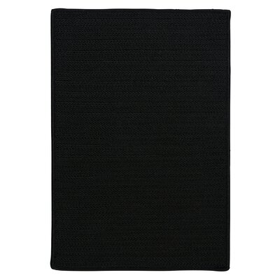 Glasgow Black Indoor/Outdoor Area Rug Rug Size: Square 8