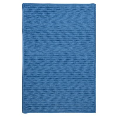 Glasgow Solid Blue Indoor/Outdoor Area Rug Rug Size: Rectangle 4 x 6