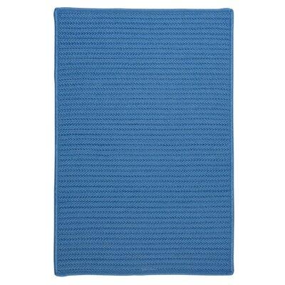 Glasgow Solid Blue Indoor/Outdoor Area Rug Rug Size: 5 x 8
