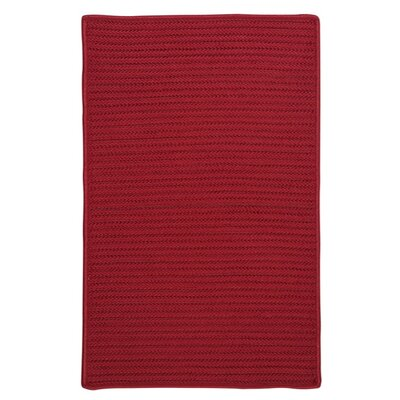 Glasgow Red Indoor/Outdoor Area Rug Rug Size: 3 x 5