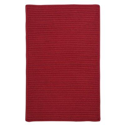 Glasgow Red Indoor/Outdoor Area Rug Rug Size: 2 x 4