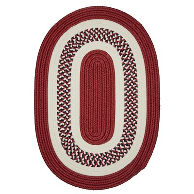 Germain Red Area Rug Rug Size: Oval 5 x 8
