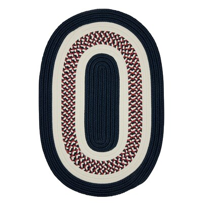 Germain Blue Area Rug Rug Size: Oval 2' x 10'