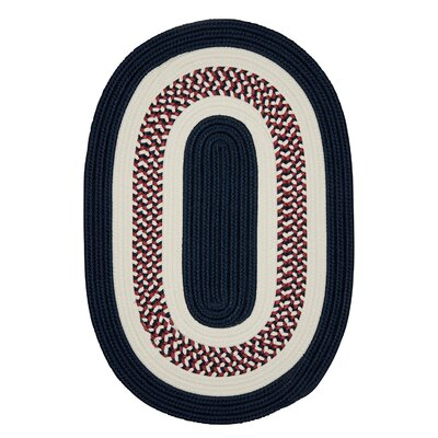 Germain Blue Area Rug Rug Size: Oval 2 x 6