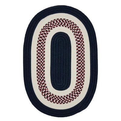 Germain Blue Area Rug Rug Size: Oval 2' x 6'