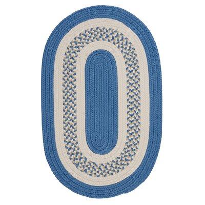 Germain Blue/Beige Indoor/Outdoor Area Rug Rug Size: Oval Runner 2 x 8