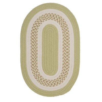 Germain Light Green/Beige Indoor/Outdoor Area Rug Rug Size: Oval 4 x 6