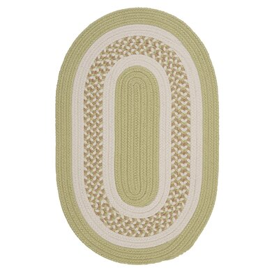 Germain Light Green/Beige Indoor/Outdoor Area Rug Rug Size: Oval 7 x 9