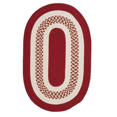 Germain Red & Beige Indoor/Outdoor Area Rug Rug Size: Oval 4 x 6