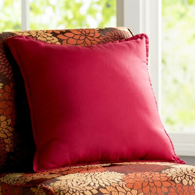Blairview Water and Stain Resistant Throw Pillow Color: Red