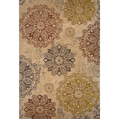 Gault Taupe Area Rug Rug Size: 22 x 37