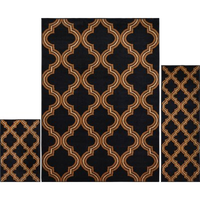 Gallaher Ebony Area Rug Set