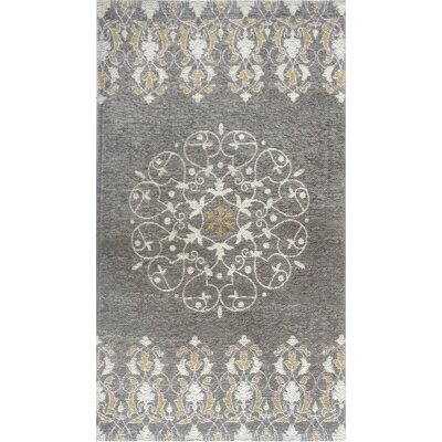 Gault Gray Area Rug Rug Size: 21 x 37