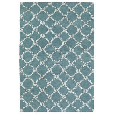 Gannaway Turquoise Area Rug Rug Size: 5 x 7