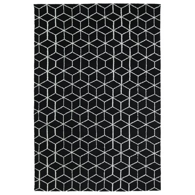 Gannaway Black Area Rug Rug Size: Rectangle 5 x 7