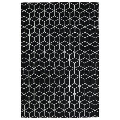Gannaway Black Area Rug Rug Size: 3 x 5