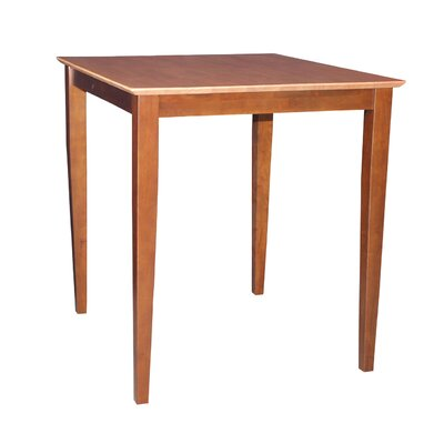 Geneseo Counter Height Pub Table Color: Cinnamon / Espresso, Tabletop Size: 30