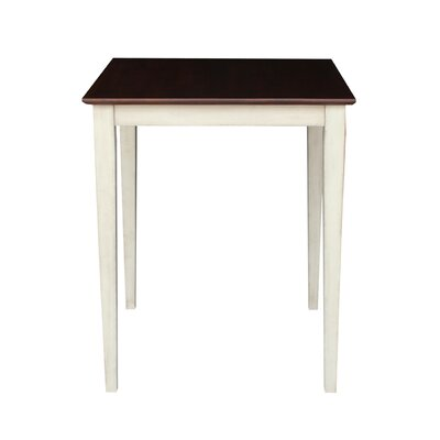 Geneseo Counter Height Pub Table Color: Antiqued Almond/Espresso, Tabletop Size: 30
