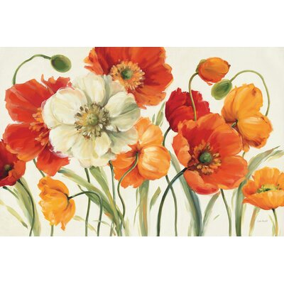 Poppies Melody I Graphic Art on Wrapped Canvas Size: 12